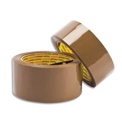 Ruban adhésif d'emballage Scotch 371 - 48 microns - polypropylene chocolat - 50 x 66m (photo)