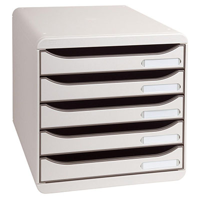 Module de classement Exacompta Big Box 5 tiroirs - gris