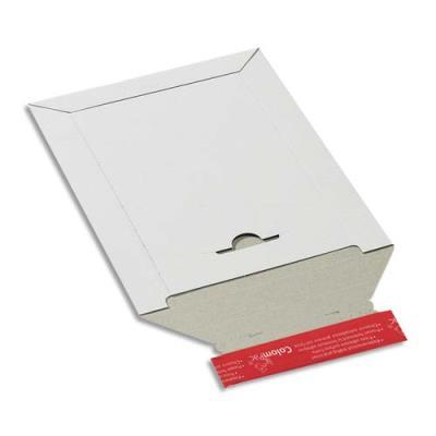 Pochette d'expédition en carton blanc Colompac - 24,5 x 34,5 cm (A4+) - hauteur jusque 3 cm (photo)