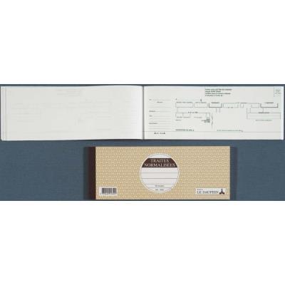 Carnet traite à souche 10.1 x 27 cm 50 feuillets