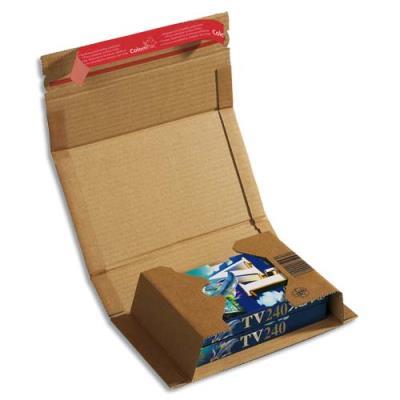 Etui d'expédition en carton rigide à fermeture adhésive - 21,7 x 15,5 x 6 cm (photo)