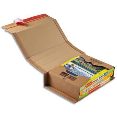 Etui d'expédition en carton pour format A4 - fermeture adhésive - 30,2 x 21,5 x 8 cm (photo)
