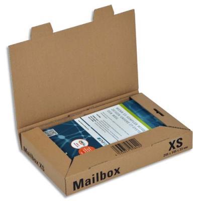 Boîte postale brune d'expédition Mailbox XS en carton - 24,5 x 14,5 x 3,3 cm (photo)