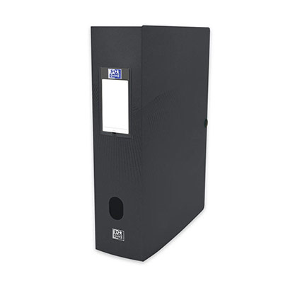 Boîte de classement Oxford Osmose 24X32 - dos de 8 cm en polypropylène opaque - noir
