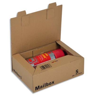 Boîte postale brune d'expédition Mailbox S en carton - 25 x 17,5 x 8 cm (photo)