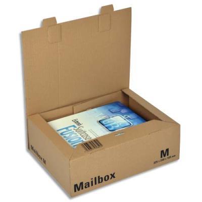 Boîte postale brune d'expédition Mailbox M en carton - 32,5 x 24 x 10,5 cm (photo)