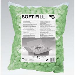 Sachet de particules de calage en polystyrène recyclé 15 litres coloris vert