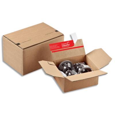 Caisse carton à fond automatique et fermeture autocollante - 21 x 11 x 15 cm pour format A5 (photo)