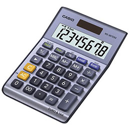 Calculatrice de bureau Casio MS 88 TER II - 8 chiffres (photo)