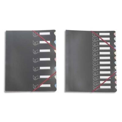 Trieur Extendos 437 12 compartiments - couverture popypro intérieur carte - noir