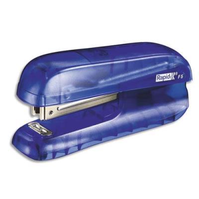 Mini agrafeuse Rapid F5 - bleu translucide - agrafes N°10