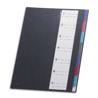 Trieur Mon Dossier - 7 compartiments - format 24,5x32 cm - coloris noir