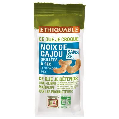 Noix de cajou Bio grillées sans sel - sachet de 100 g