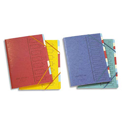 Trieur en carte forte Emey 17 - 4.3/10e - 12 compartiments - coloris assortis