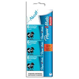 Blister de 3 étuis de 6 cartouches courtes standards Papermate - encre turquoise (photo)