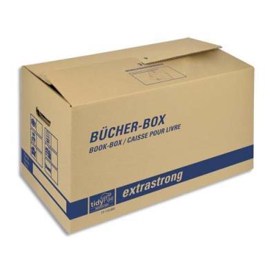 Caisse carton de transport spécial livres - capacité 30Kg - 57,5 x 29,5 x 33,1 cm