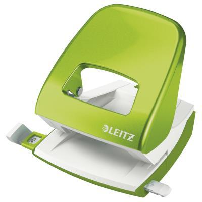 Perforateur 2 trous Leitz Wow - 30 feuilles - effort réduit de 60% - vert anis