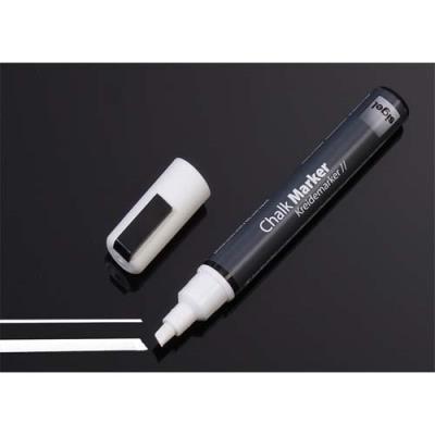 Marqueur craie liquide Sigel - pointe biseautée 1 à 5 mm - blanc - effaçable
