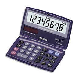 Calculatrice de poche Casio SL100VER - 8 chiffres - pliable (photo)