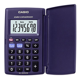 Calculatrice de poche Casio HL 820 VER - 8 chiffres (photo)