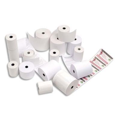 Bobine caisse enregistreuse papier thermique sans bisphenol A - format 80 x80 x 12 mm - longueur 90 m (photo)