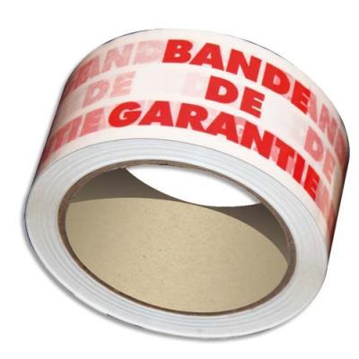 Ruban adhésif en polypro imprimé BANDE DE GARANTIE - 50 microns - 100 m x 48 mm (photo)