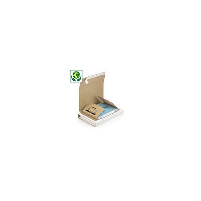 Étui emballage postal carton brun Raja - avec fermeture adhésive - format A3 - 43 x 31 cm - cadre/tableau (photo)