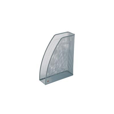 Porte revues en metal argenté - dos 7cm - 26x33,5x8,3 cm - ligne Mesh (photo)