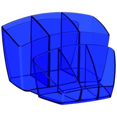 Pot à crayons Cep Happy 580 H 8 compartiments - 143 x 158 x 93 mm - polystyrène - bleu électrique