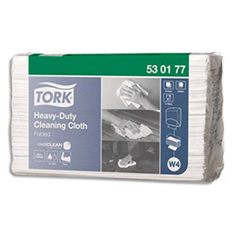 Chiffons non tissés multi-usages Tork blancs - ultra-résistant - 60 formats  64 x 38,5 cm (photo)