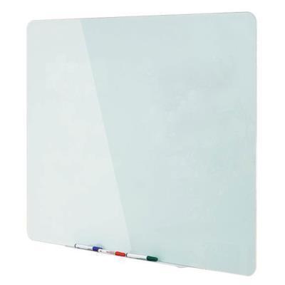 Tableau mural en verre magnétique et effaçable à sec - surface en verre trempé blanc 4 mm - 1 500 x 1 200 mm