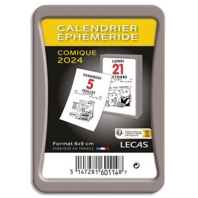Calendrier éphéméride comique Lecas - 1 jour par page - 6,2 x 9,5 cm - coloris assortis