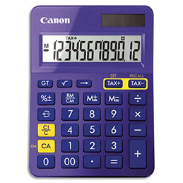 Calculatrice de bureau Canon - violette (photo)