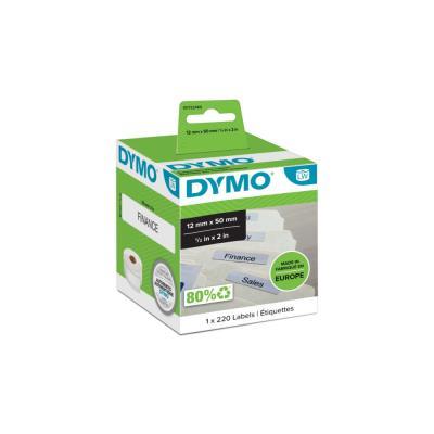 Rouleau étiquettes pour Dymo Labelwriter - format 50 x 12 mm - usage : dossiers suspendus