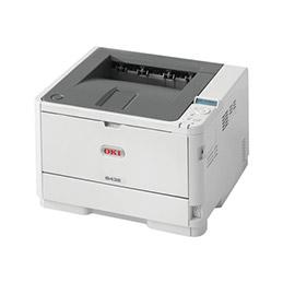 OKI B432dn - Imprimante - Noir et blanc - Recto-verso - LED - A4/Legal - 1200 x 1200 ppp - jusqu'à 40 ppm - capacité : 350 feuilles - USB 2.0, Gigabit LAN