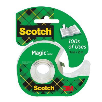Ruban adhésif invisible Scotch Magic - 19 mm x 25 m - sur dévidoir plastique