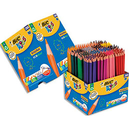 Classpack Bic de 248 +40 crayons de couleurs Evolution, corps hexagonal coloré ,12 couleurs assorties (photo)