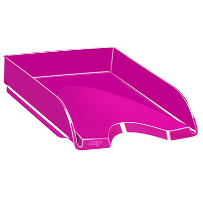 Corbeille à courrier CEP Gloss - 24 x 32 cm - rose pepsy