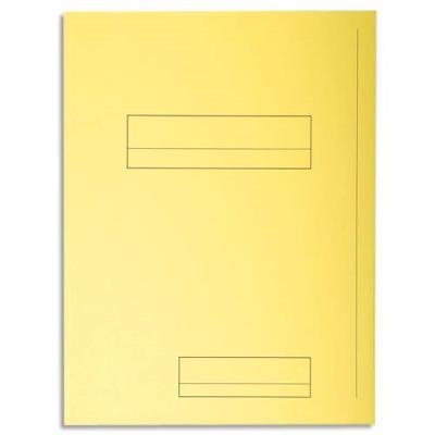 Chemise 2 rabats avec cadre d'indexage Exacompta Super 250 - carte 210 g - jaune - paquet de 50 (photo)
