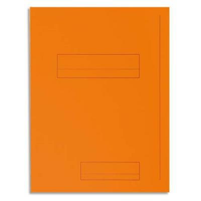 Chemise 2 rabats avec cadre d'indexage Exacompta Super 250 - carte 210 g - orange - paquet de 50 (photo)