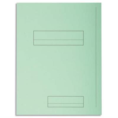 Chemise 2 rabats avec cadre d'indexage Exacompta Super 250 - carte 210 g - vert - paquet de 50 (photo)