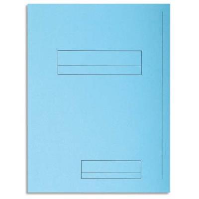 Chemise 2 rabats avec cadre d'indexage Exacompta Super 250 - carte 210 g - bleu clair - paquet de 50 (photo)