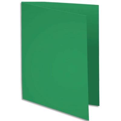 Chemise Exacompta Rock's - vert sapin - format 24 x 32 cm - 210 g - paquet de 100
