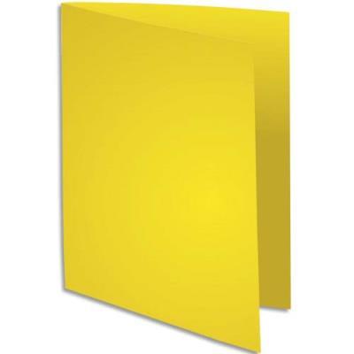 Sous chemise exacompta rocks jaune citron format 22 x 31 cm 80 g paquet de 100