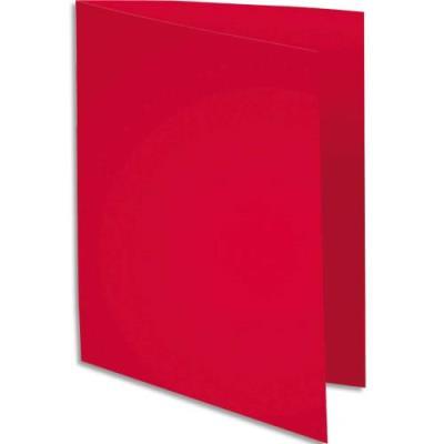 Sous-chemise Exacompta Rock's - rouge framboise - format 22 x 31 cm - 80 g - paquet de 100