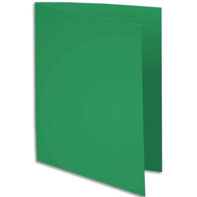 Sous-chemise Exacompta Rock's - vert sapin - format 22 x 31 cm - 80 g - paquet de 100