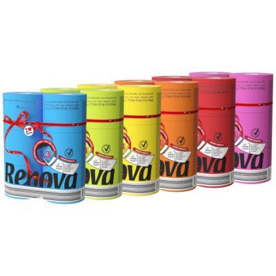 Papier toilette couleur triple épaisseur - rouleau de 180 feuilles - 6 coloris panachés - carton 6 x 6 rouleau (photo)