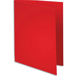 Chemise Exacompta Super 180 - carte 160 g - rouge - 24 x 32 cm - paquet de 100 (photo)
