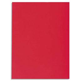 Chemise 1 rabat Exacompta Super 250 - carte 210 g - 24 x 32 cm - rouge - paquet de 50 (photo)