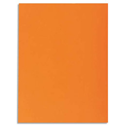 Chemise 1 rabat Exacompta Super 250 - carte 210 g - 24 x 32 cm - orange - paquet de 50 (photo)